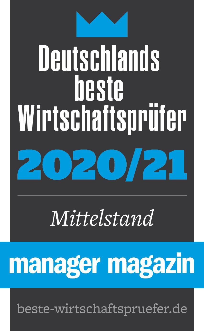 VVP - Ausgezeichnet als beste Wirtschaftsprüfer 2020/21