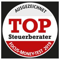 VVP | Ausgezeichnet TOP Steuerberater Focus-Money-Test 2019